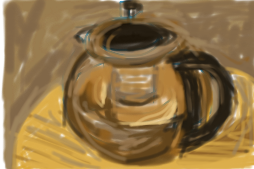 Finger Sketching - 20 minute teapot on iPod touch