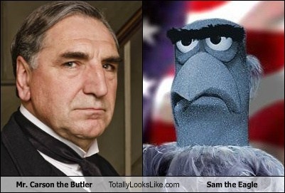 Carson the Butler and Sam the Eagle