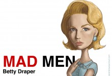 Mad Men caricature: Betty Draper actress January Jones