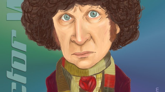 Celebrity Caricature: Tom Baker as the Fourth Doctor Who