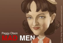 Celebrity Caricature - Mad Men's Peggy Olson played by actress Elisabeth Moss