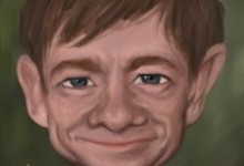 Celebrity caricature: Martin Freeman