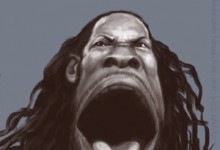 Celebrity caricature: Seattle Seahawks Richard Sherman