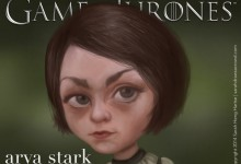 Game of Thrones Arya Stark, played by British actress Maisie Williams