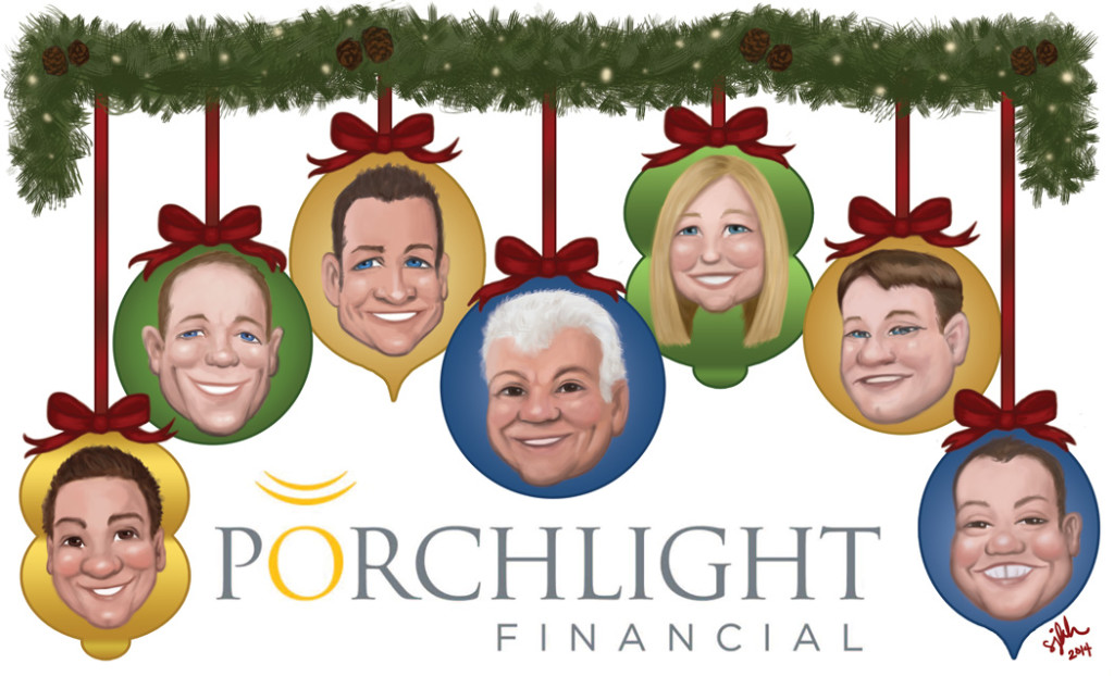 "The holiday card for a financial group. The style is more ""cute"" based on the client's preferences :-)"