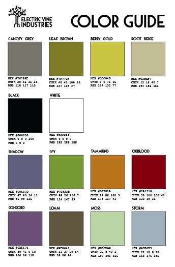 Part of building the brand is keeping consistency with all materials that go out. A color guide is a good way to ensure colors stay within the brand identity.